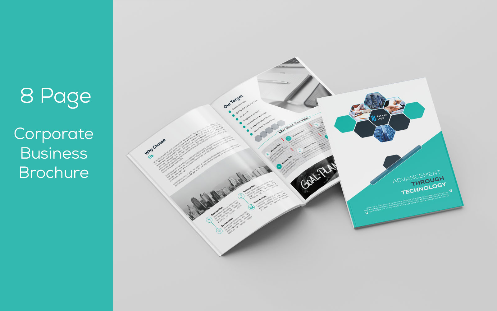 Business Brochure - 8 page Corporate Identity Template