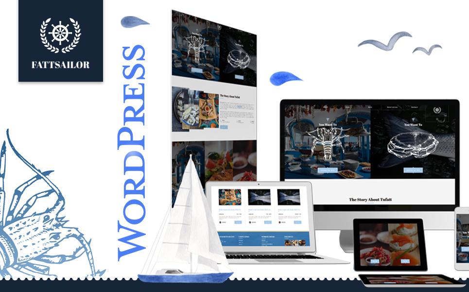 """Seafood Restaurant | Fattsailor"" 响应式WordPress模板 #104458"
