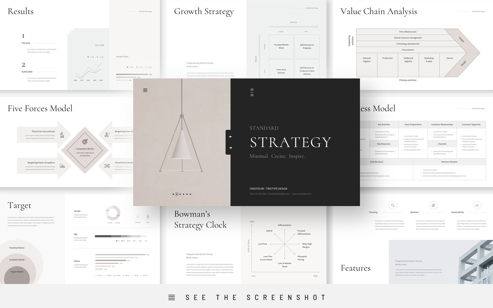 Business Strategy Presentation Keynote Template