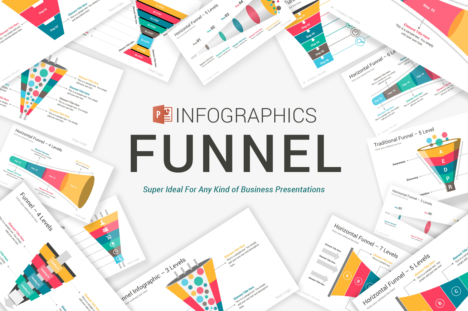 Funnel Infographics Pack PowerPoint Template