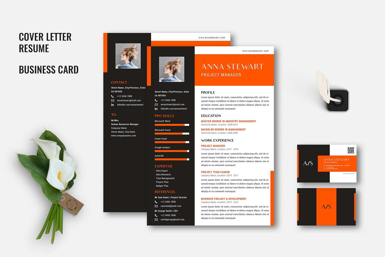 "Lebenslauf-Vorlage namens ""Athena - Creative CV Set"" #104678"