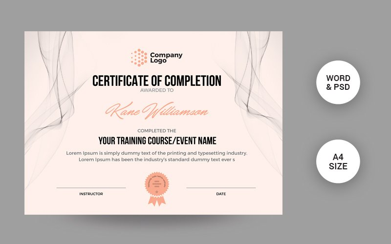 Modern Certificate Template #104677