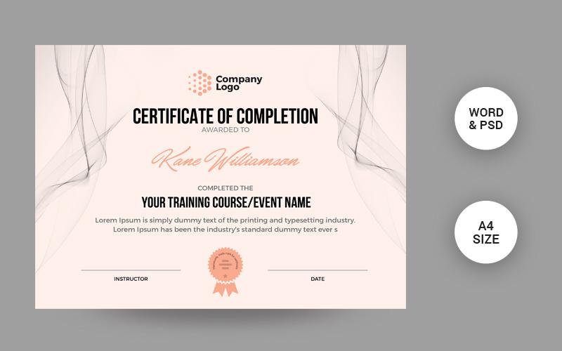 """Modern"" Certificate Template №104677"