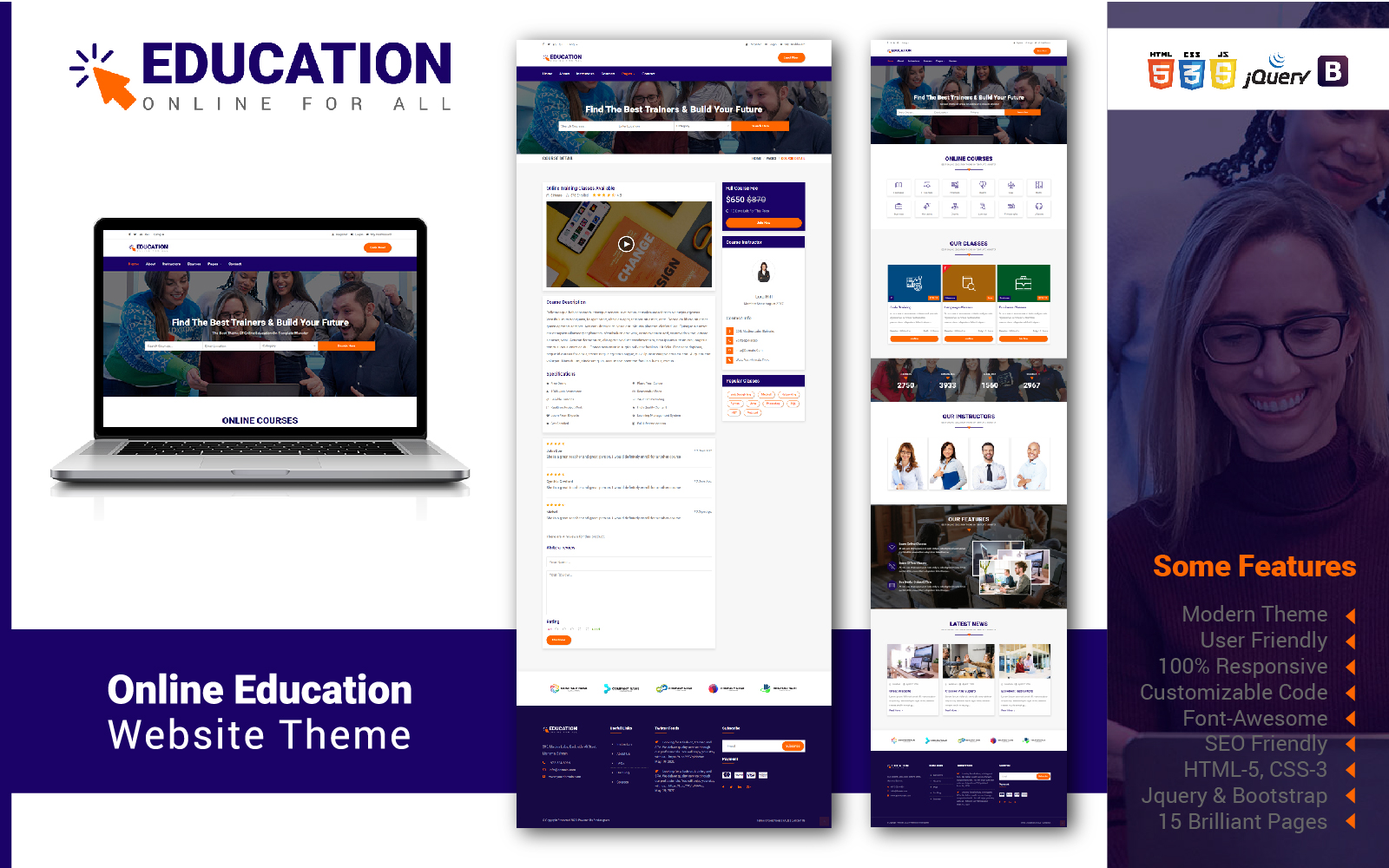Online Education Website Template
