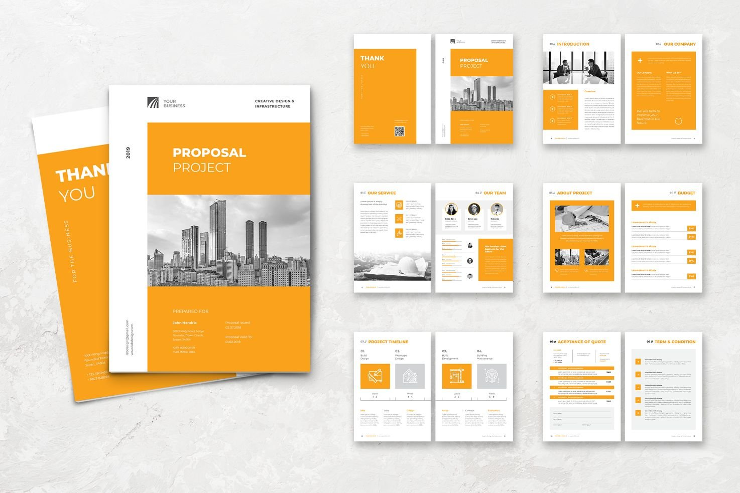 Proposal Business Development Services Corporate Identity Template