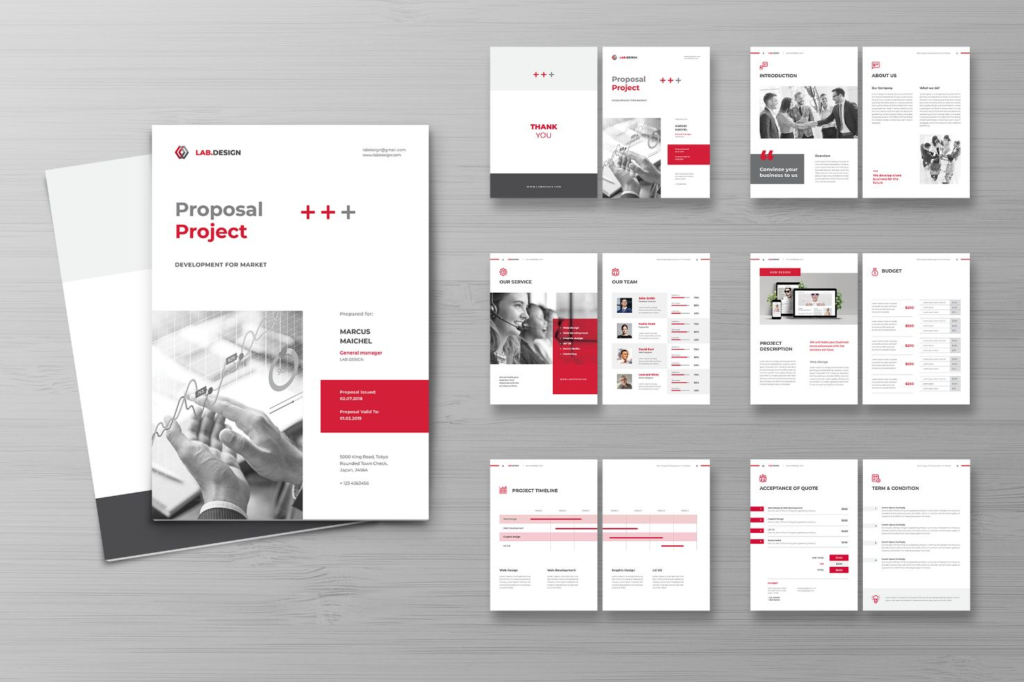 Proposal Digital Asset Service Corporate Identity Template