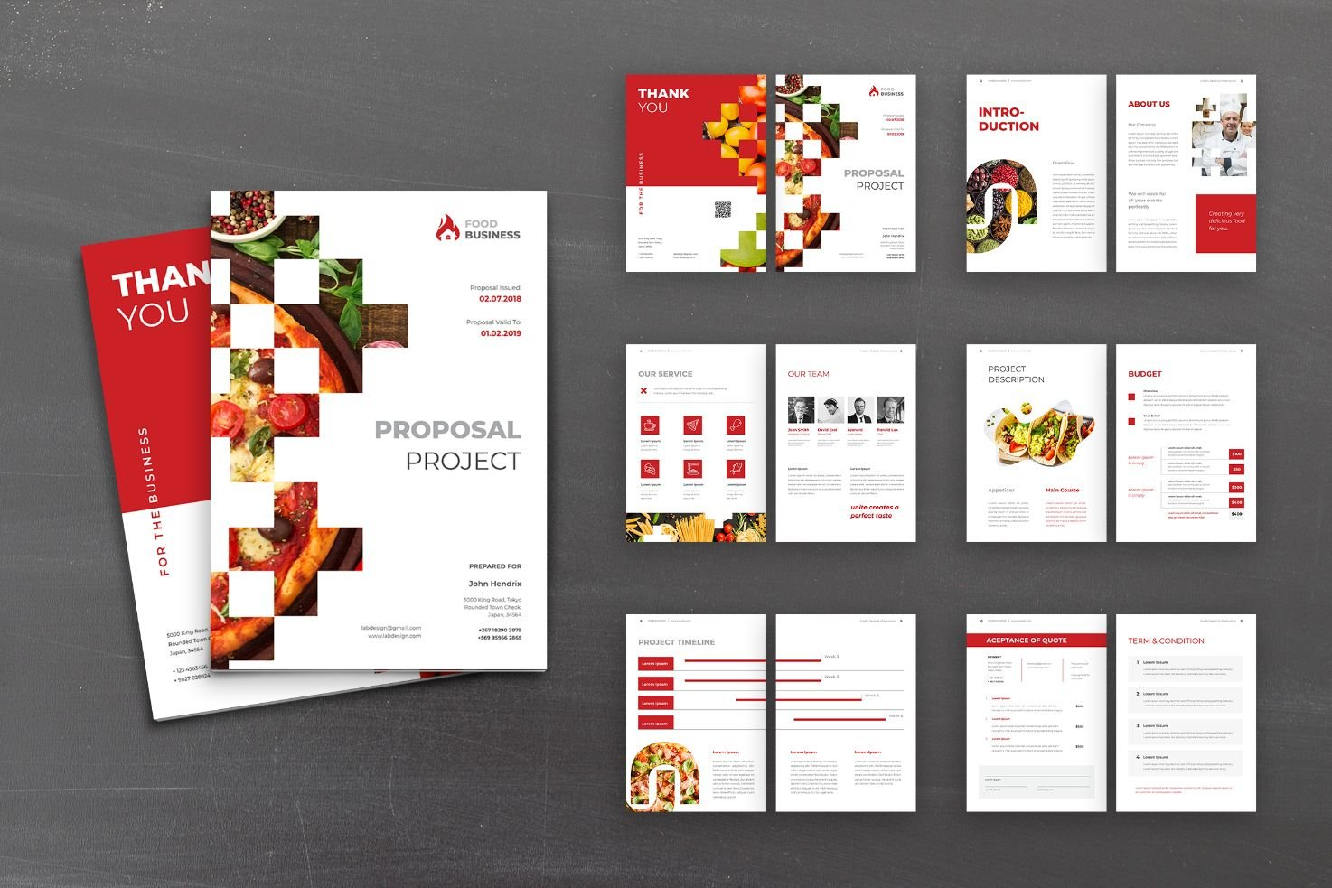 Proposal Food Business Planner Corporate Identity Template