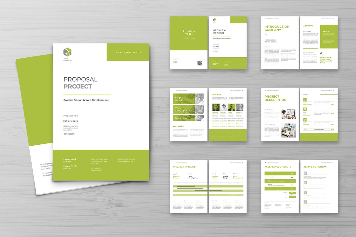 Proposal Graphic Design Project Corporate Identity Template