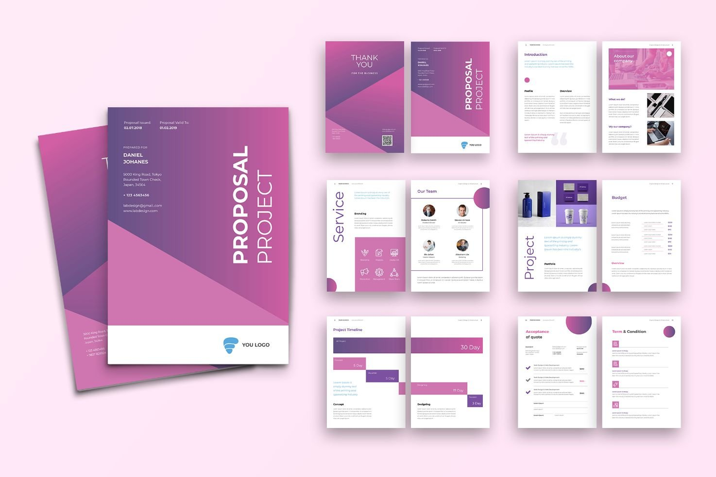 Proposal Management Analysis Product Corporate Identity Template