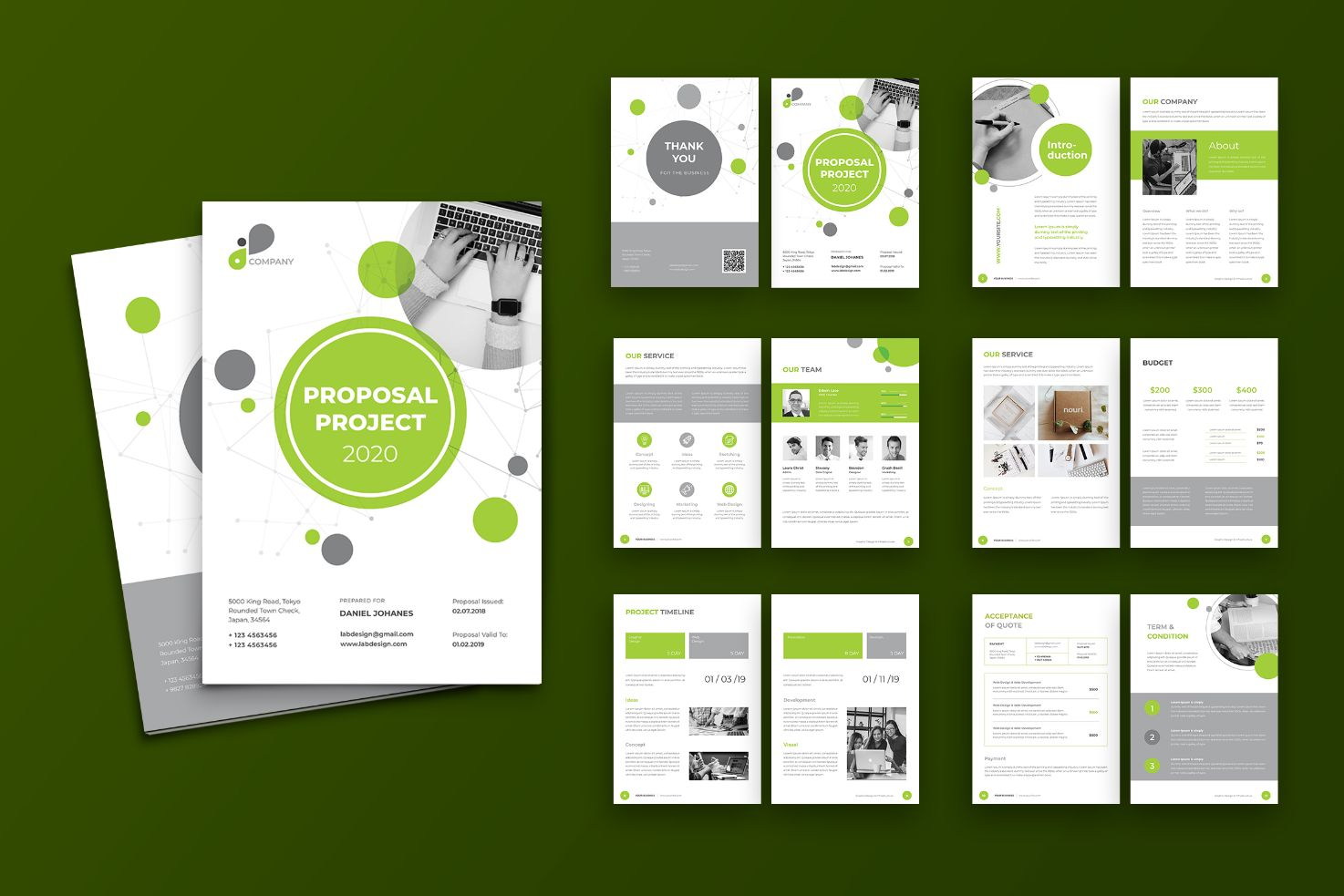 Proposal Professional Designing Corporate Identity Template