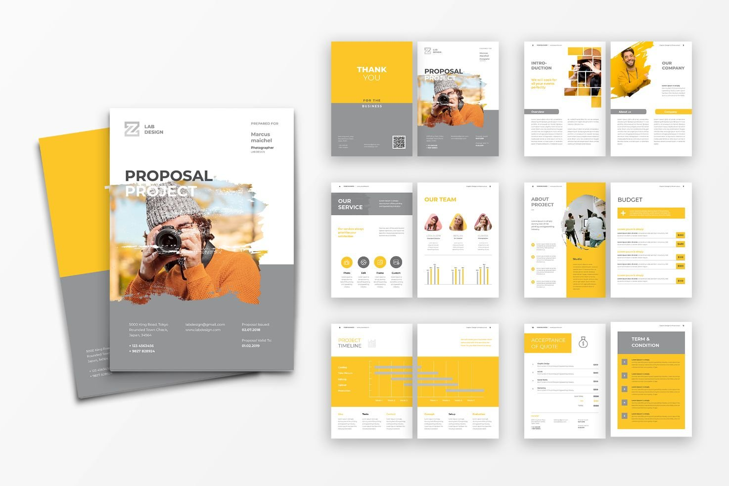 Proposal Professional Photograpy Corporate Identity Template