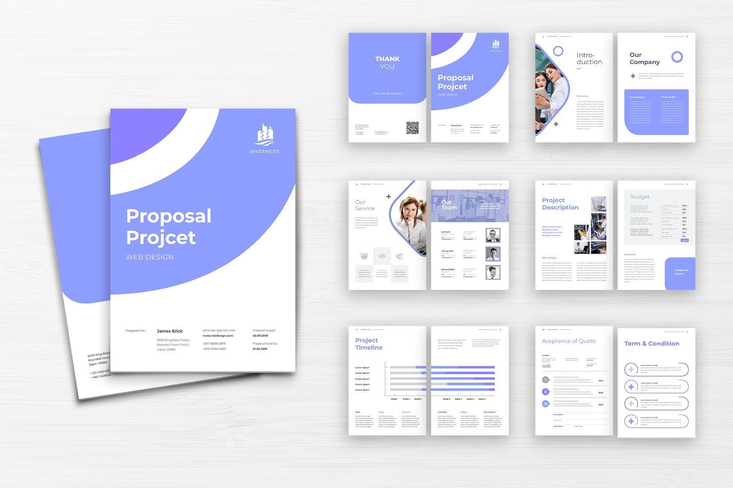 Proposal Web Design Project Corporate Identity Template