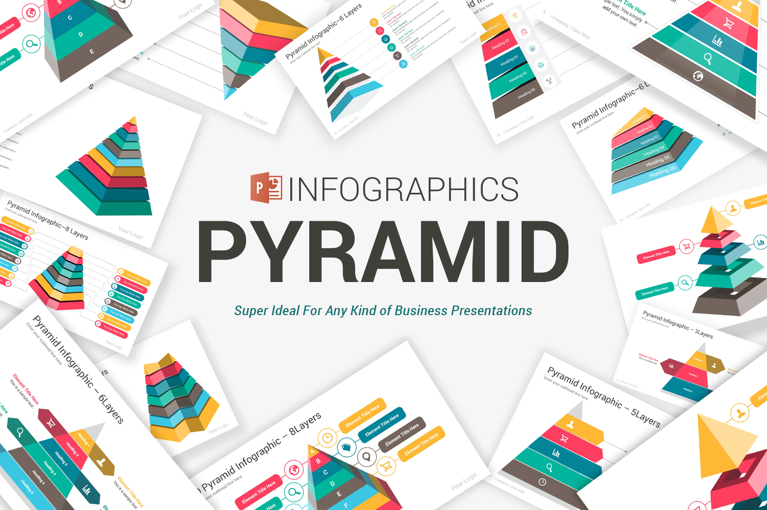 Pyramid Infographics Pack PowerPoint Template