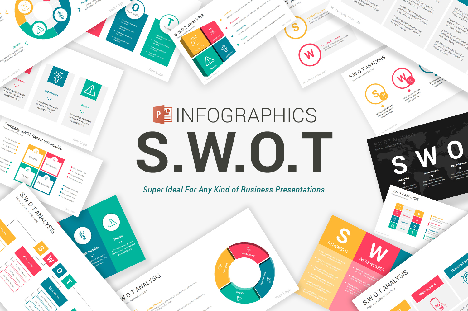 Swot Analysis Infographics Powerpoint Template 104646