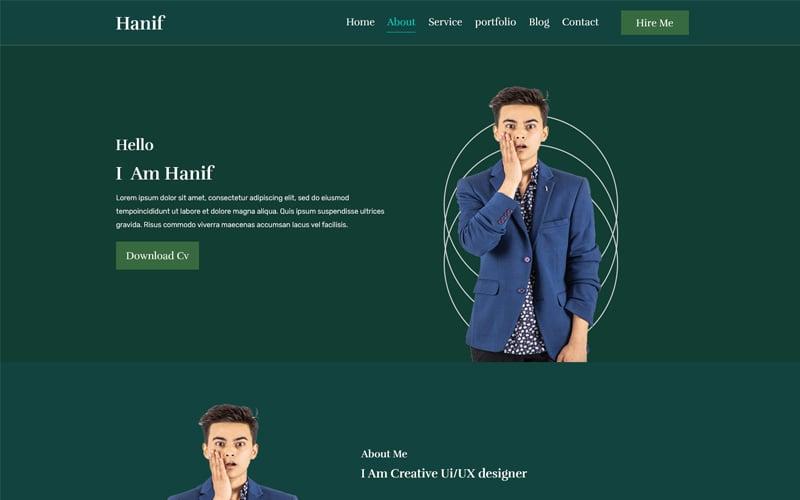 Szablon PSD Hanif One Page Personal #104668