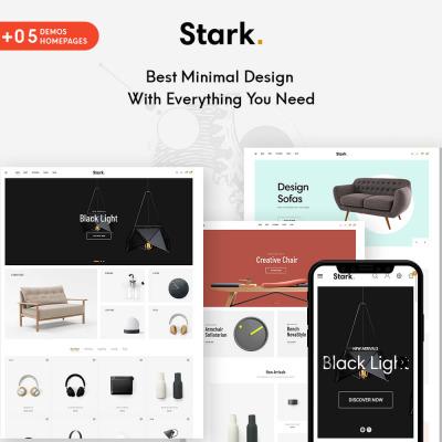 "Template Shopify #104695 ""Stark - Furniture & Home Decor"" #104695"