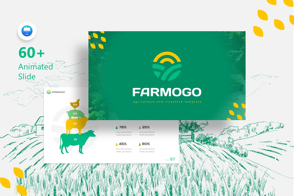 Farmogo Agriculture Fully Animated Keynote Template