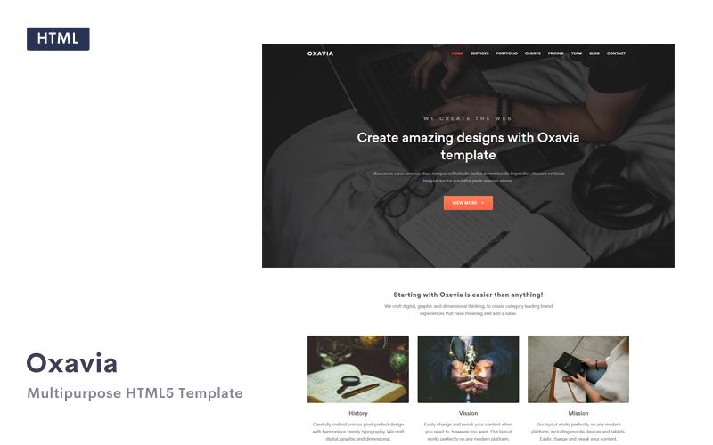 Oxavia - Responsive HTML5 Landing Page Template