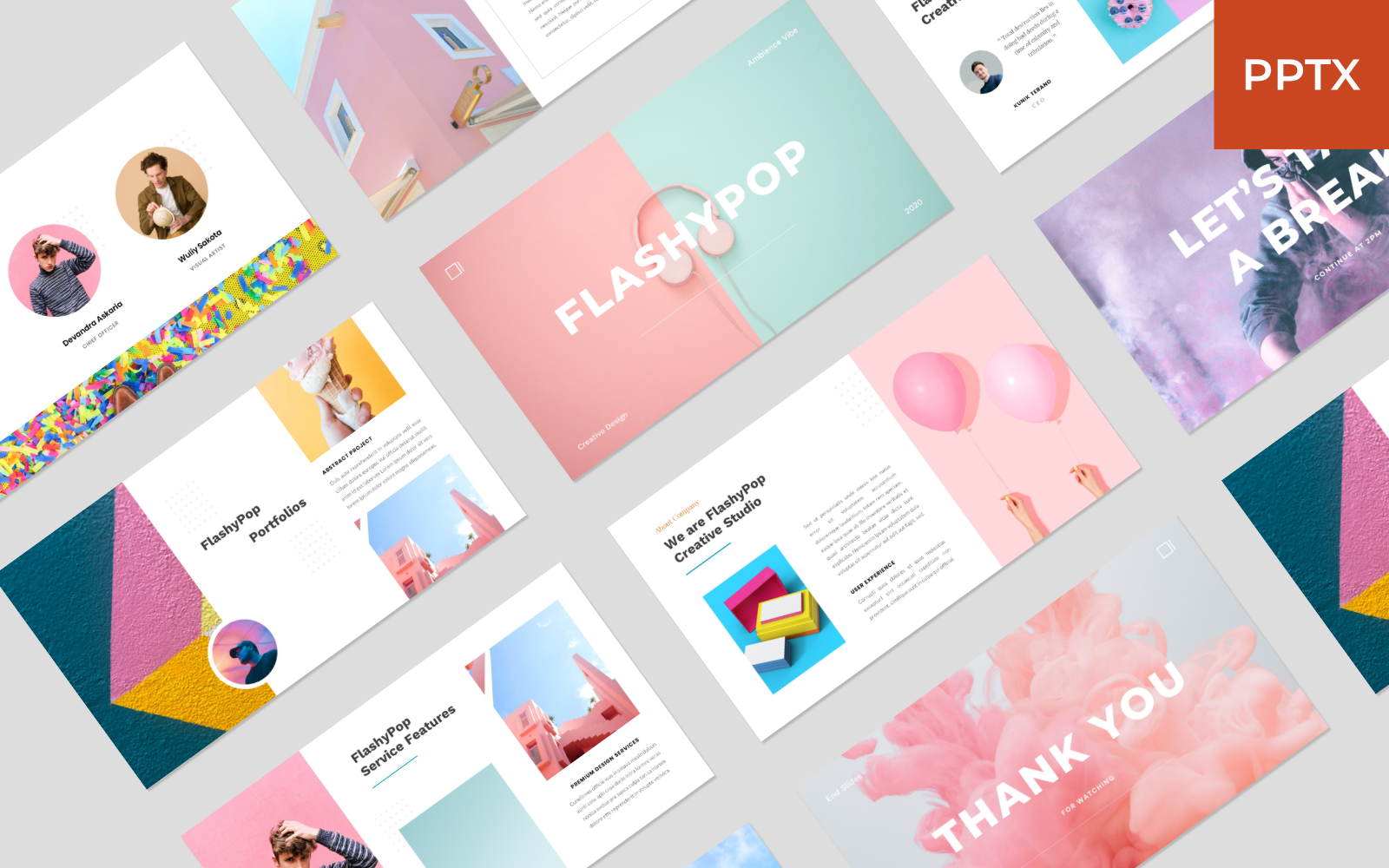 FlashyPop - Business Creative PowerPoint Template