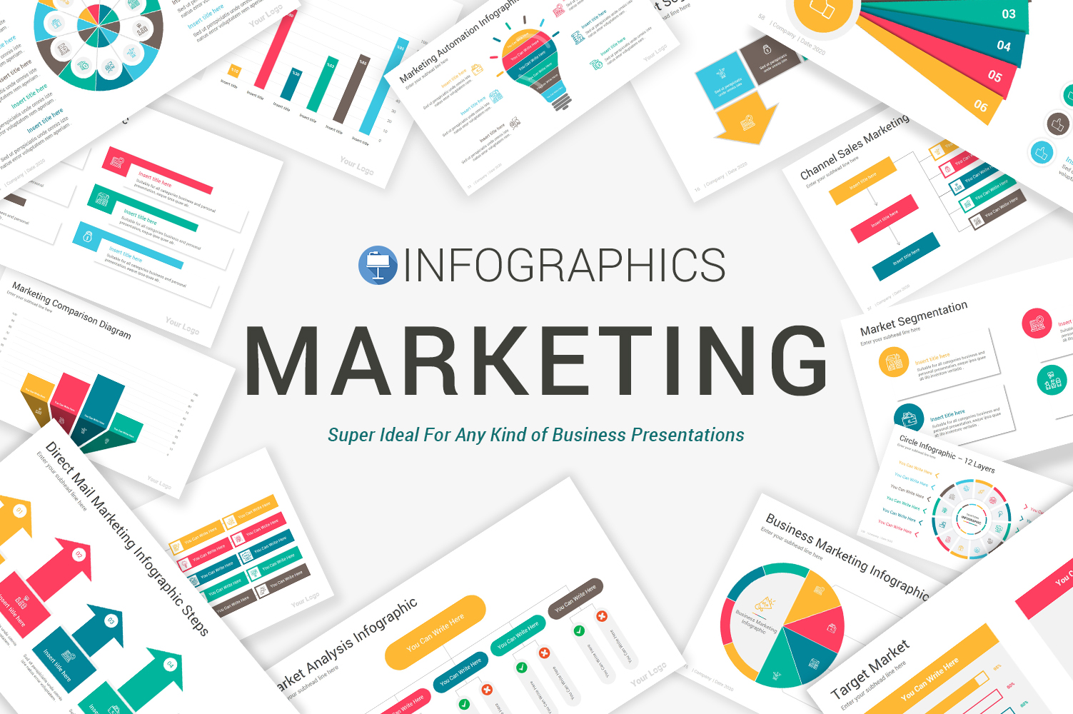 Marketing Infographics Pack Keynote Template