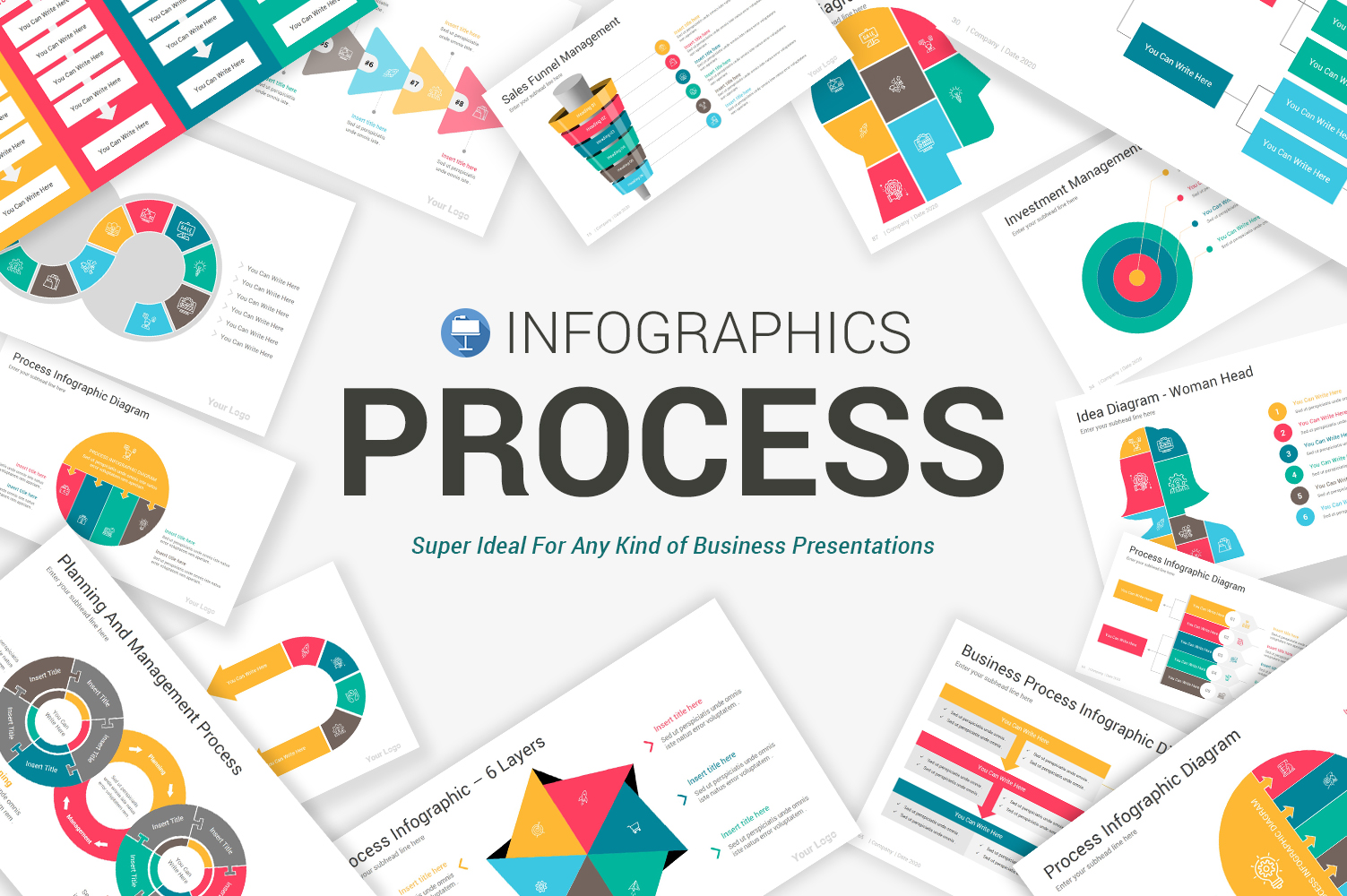 Process Infographics Pack Keynote Template