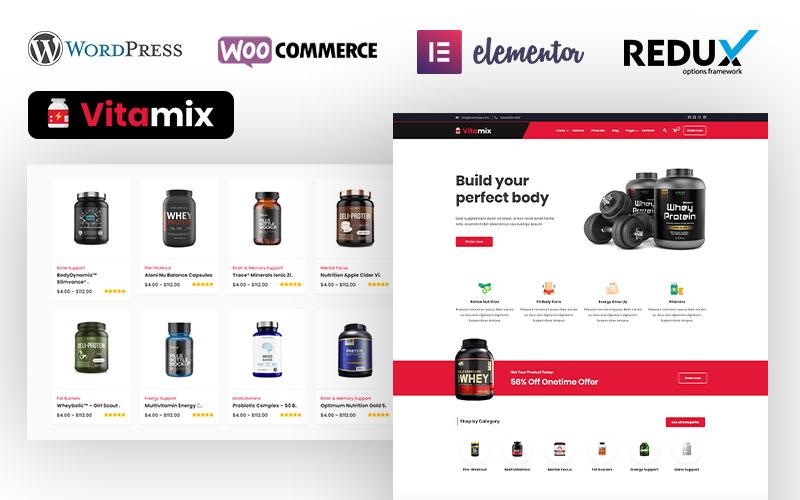 "Responzivní WooCommerce motiv ""Dawa - Sports & Fitness Nutrition and Supplements Store"" #104831"
