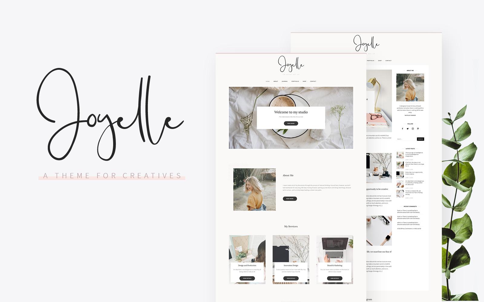 Reszponzív Joyelle - Creative Artist WordPress sablon 104837