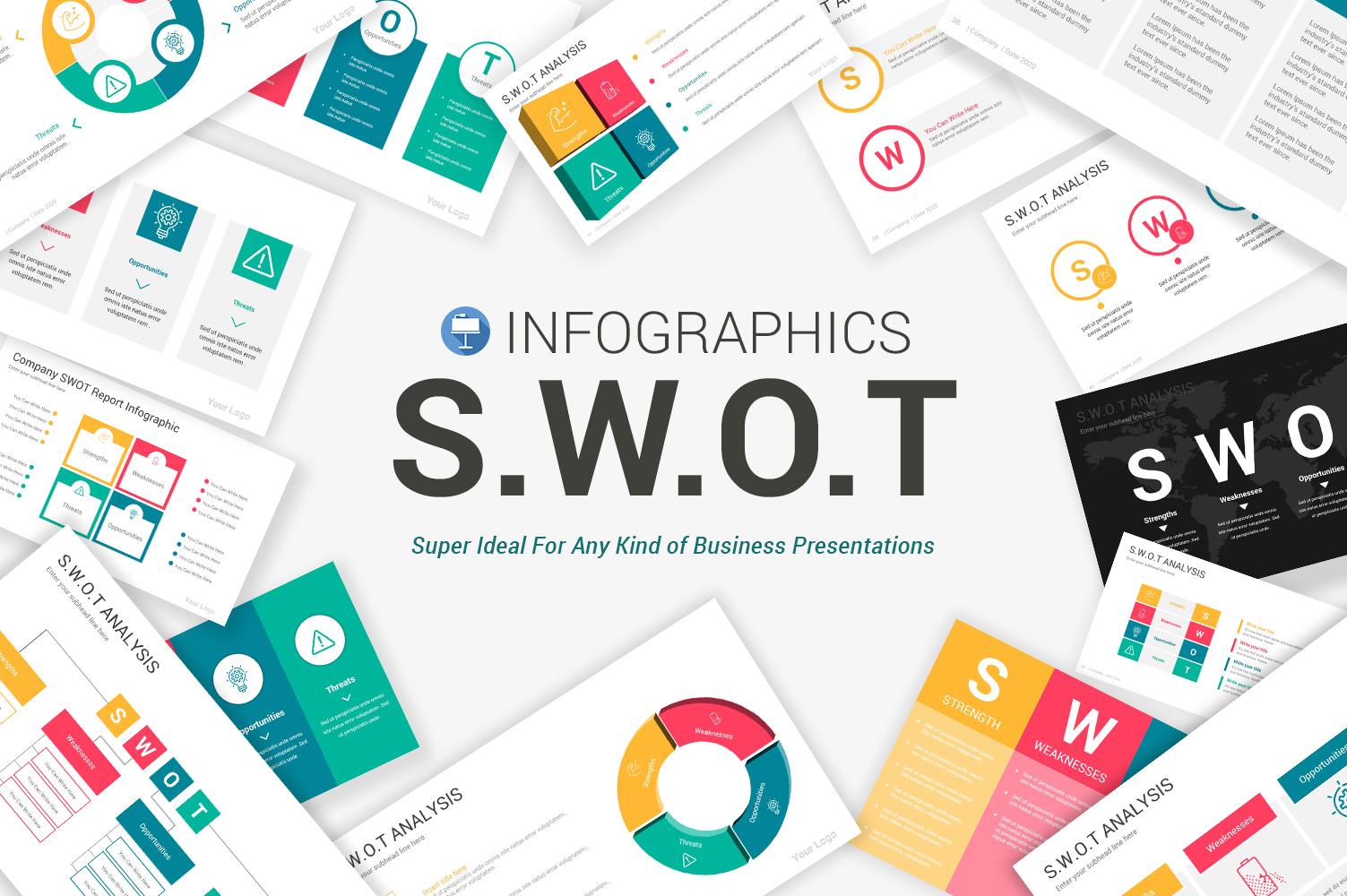 Swot analysis Infographics Keynote Template