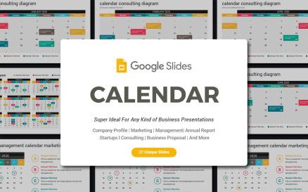 2020 calendar diagrams Google Slide