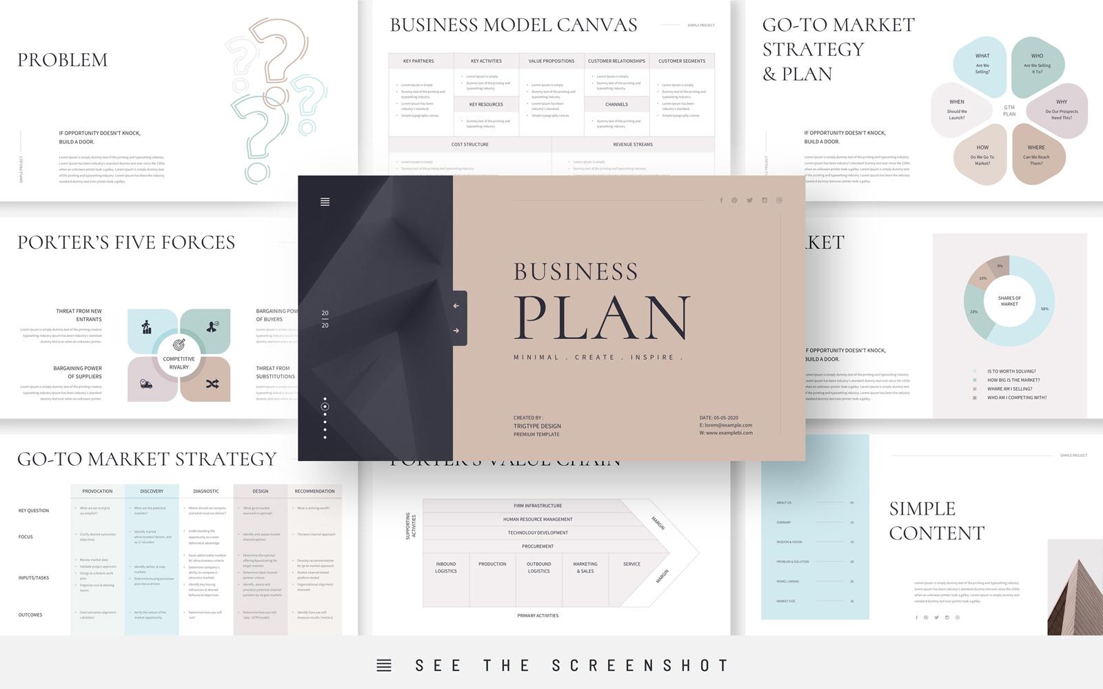 Business Plan Presentation Google Slides