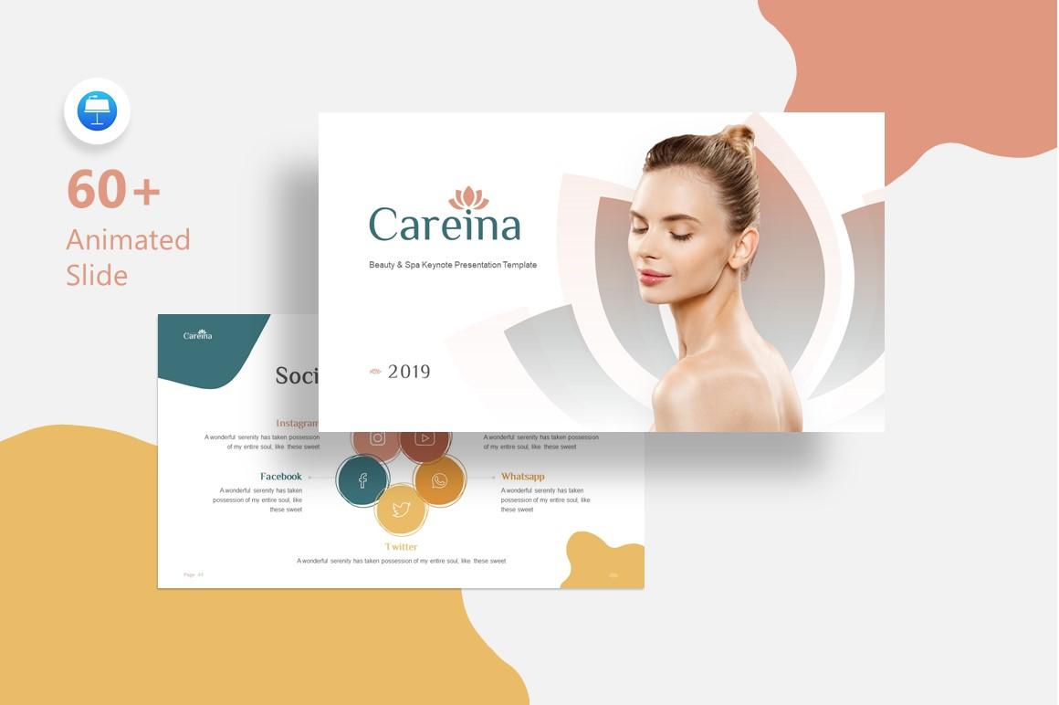 Careina - Spa Simple Minimalis Keynote Template