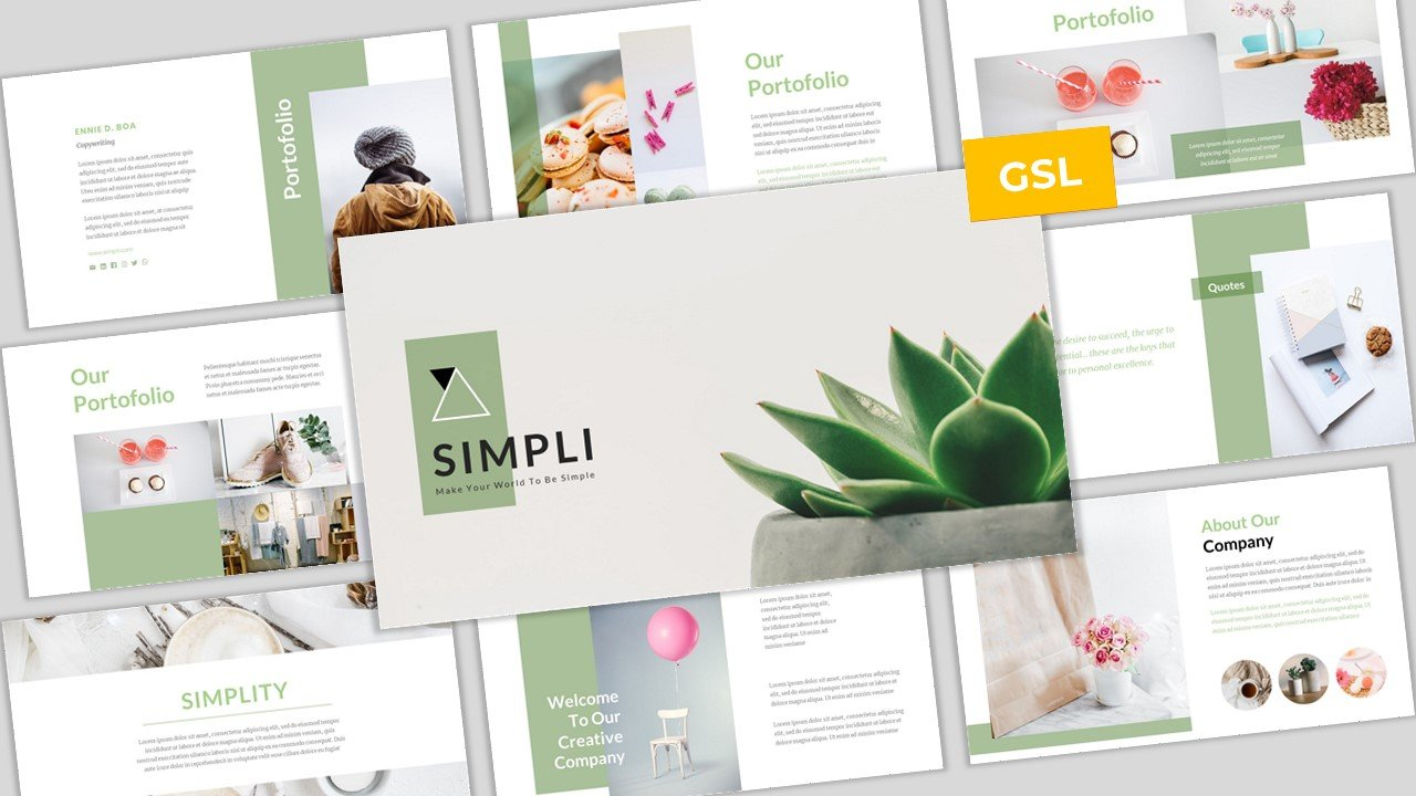 Simpli - Simple & Modern Business Google Slides Template #104998