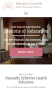 Spa Website Design - Melissa & Lauren - mobile preview