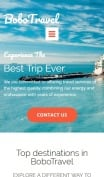 Travel Website Design - BoboTravel - mobile preview