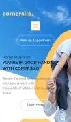 Insurance Company Website Design - Comersilo - mobile preview