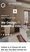 Home Decor Website Design - Interioni - mobile preview