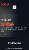 Singer Website Design - Sansar - mobile preview