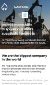Oil Company Website Design - Gaspero - mobile preview