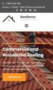 Roofing Website Design - Rooferco - mobile preview