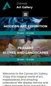 Art Gallery Website Design - Canvas - mobile preview
