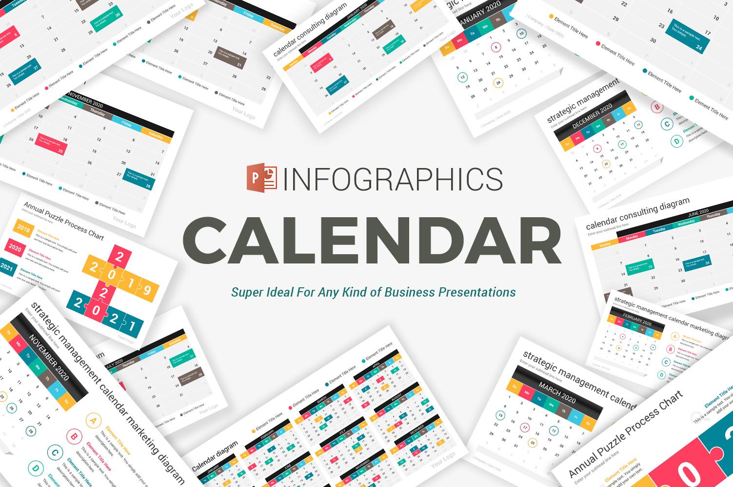 2020 calendar diagrams PowerPoint Template