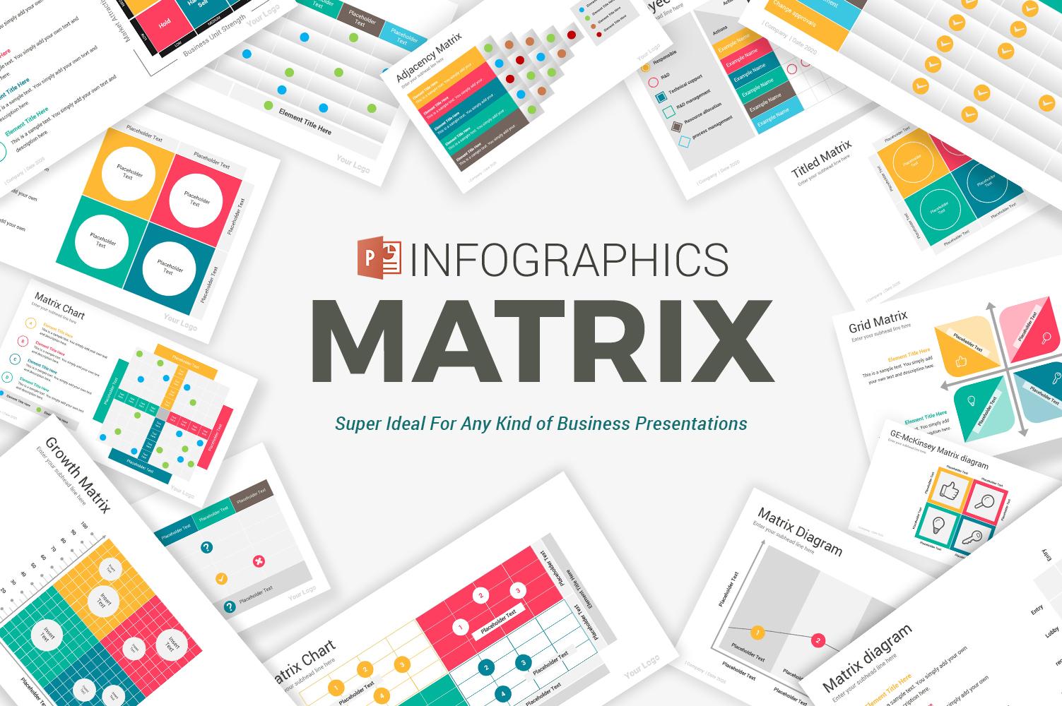 Matrix Diagrams Pack PowerPoint Template
