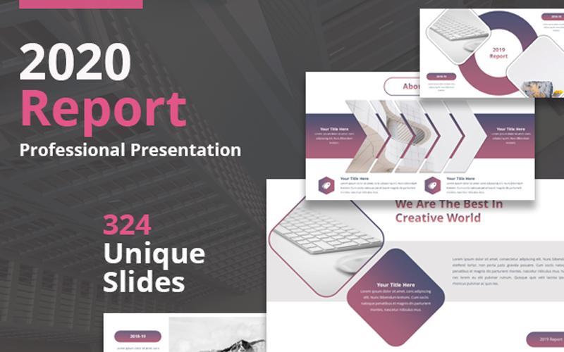 Szablon PowerPoint 2020 Report #105058