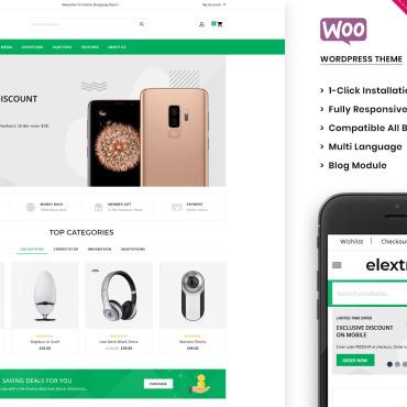 Купить  пофессиональные WooCommerce шаблоны. Купить шаблон #105210 и создать сайт.