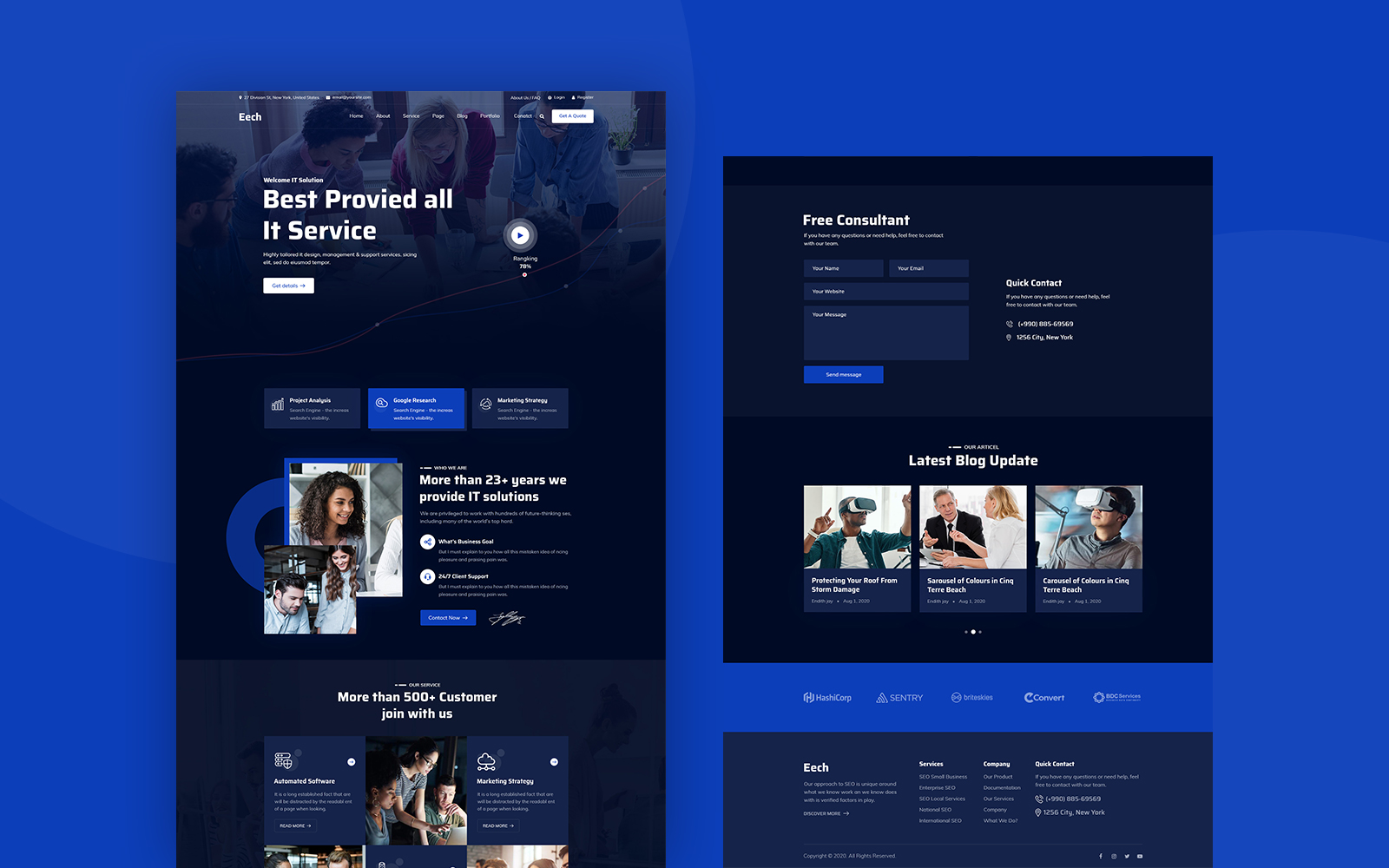 Eeth - IT Solution & Consultant PSD Template