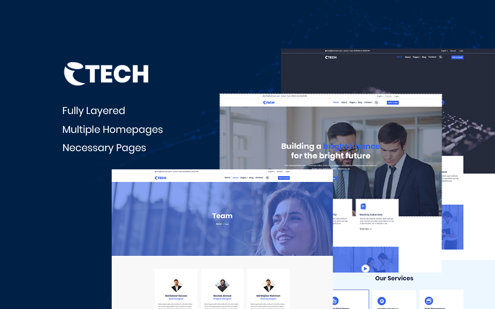 eTech - Multipurpose PSD Template