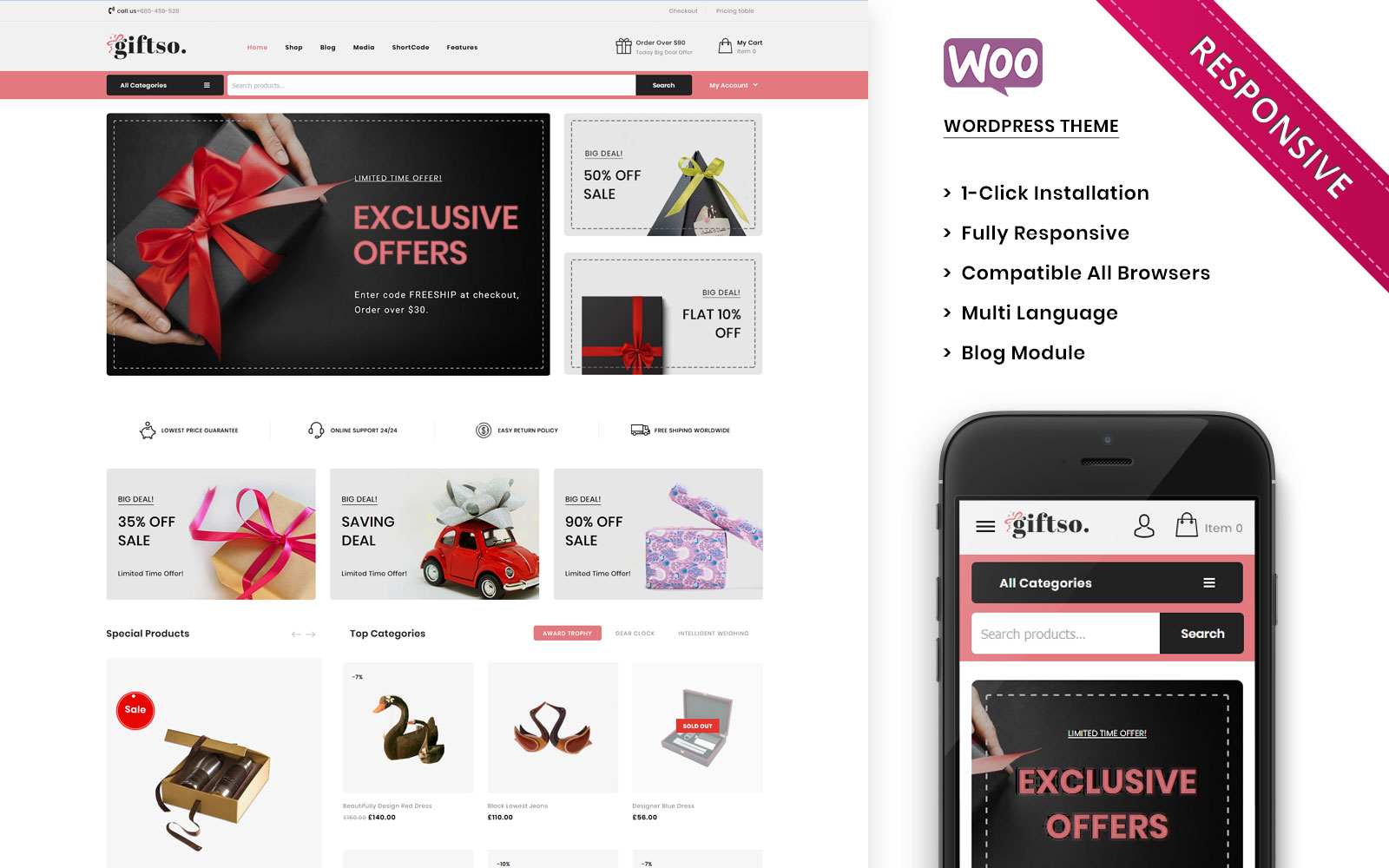Giftso - The Gift Store Responsive WooCommerce Theme