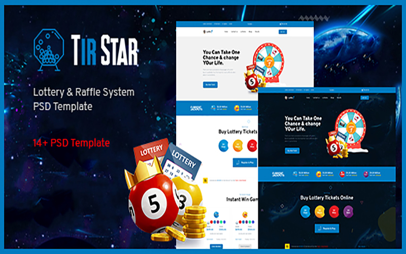 """""""TirStar - Lottery & Raffle System"""" modèle PSD  #105207"""