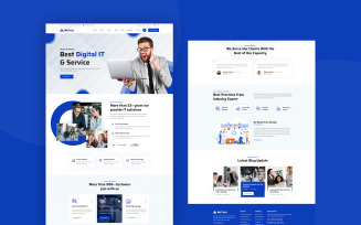 WeTech - Business & IT Solution PSD Template