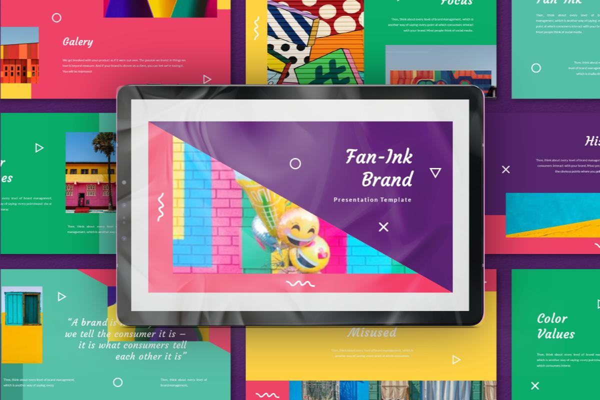Fan-Ink Brand PowerPoint Template